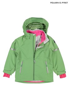 Polarn O. Pyret Green Waterproof Shell Coat