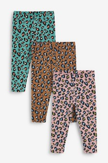 3 Pack Animal Leggings (3mths-7yrs)