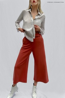 French Connection Red Audeta Whisper Cropped Trousers