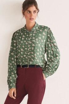 Curved Collar Shirt