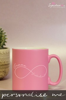 Personalised Sisterhood Pink Satin Mug by Signature PG