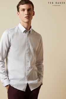 Ted Baker Whonos Cotton Geo Print Shirt