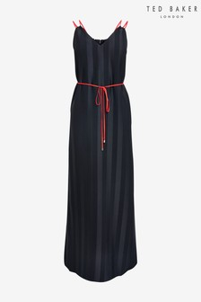 Ted Baker Blue Farli Striped Maxi Dress