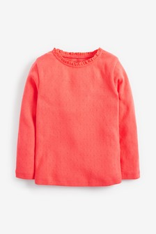 Brushed Pointelle T-Shirt (3mths-7yrs)