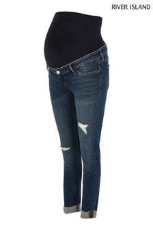River Island Molly Maternity Overbump Tortellini Jeans