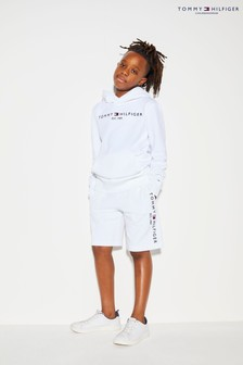 Tommy Hilfiger White Essential Logo Sweat Shorts