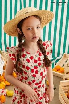 Sonia Rykiel Paris Pink All Over Apple Print Dress