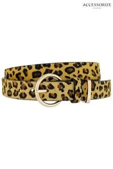 Accessorize Leopard Leather Jeans Belt