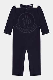 Navy Cotton Baby Romper