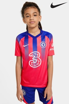 Nike Red Chelsea FC Third 20/21 Kids Football Shirt