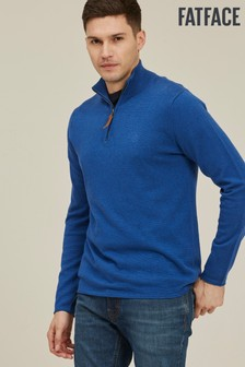 FatFace French Blue Ottoman Half Neck Jumper