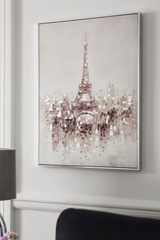 Eiffel Tower Painted Canvas