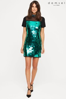 Damsel In A Dress Blue Shula Sequin Dress