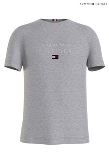 Tommy Hilfiger Grey Stacked Tommy Flag T-Shirt