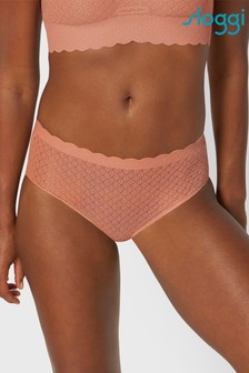 Sloggi Tan ZERO Feel Lace High Waist Briefs