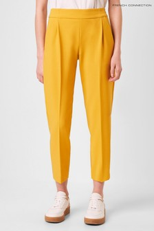 French Connection Yellow Awitti Whisper Ruth Tailored Trousers