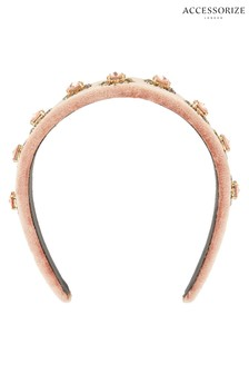 Accessorize Pink Starbursterling Silver Embellished Aliceband