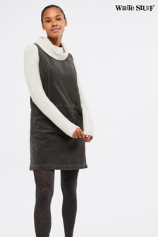 White Stuff Grey Darcy Cord Dress