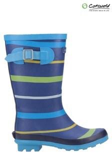 Cotswold Blue Stripe Wellington Boots