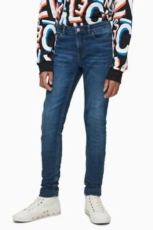 Calvin Klein Blue Skinny Fit Glare Jeans
