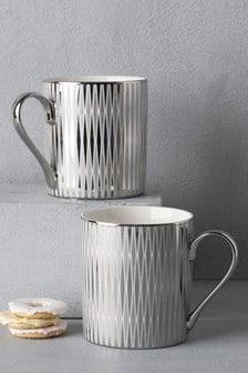 Set of 2 Silver Mugs