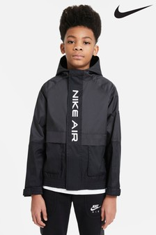 Nike AIR Black Woven Overhead Jacket