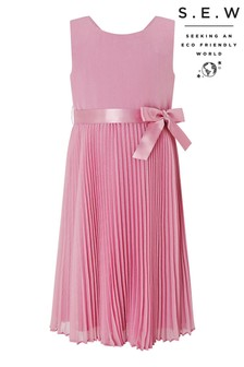 Monsoon S.E.W Dusky Pink Keita Pleat Dress