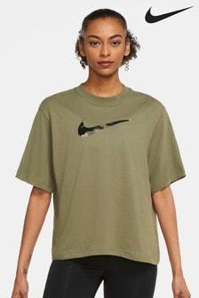 Nike Camo Swoosh Boxy Training Top
