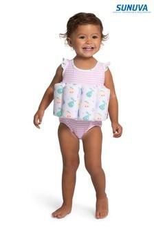 Sunuva Pink Pear Multi Stripe Floatsuit