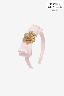 David Charles Pink Bow Hairband