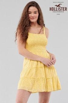 Hollister Yellow Ditsy Dress