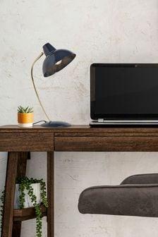 Navy Cade Desk Lamp