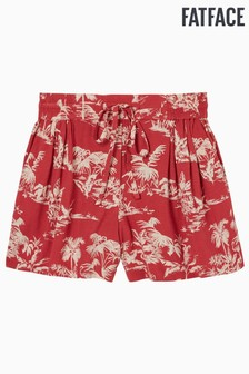 FatFace Red Flamingo Flippy Shorts