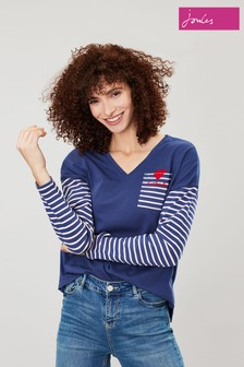 Joules Pink/Blue Marina Stripe Top