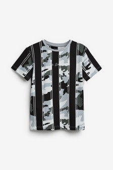 Camouflage Vertical Stripe T-Shirt (3-16yrs)