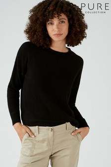 Pure Collection Black Gassato Soft Textured Sweatshirt