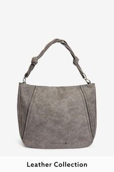 Knot Strap Detail Hobo Bag