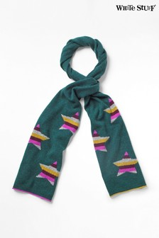 White Stuff Teal Cashmere Star Scarf