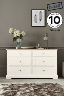 Hampton Country Luxe 6 Drawer Wide Chest