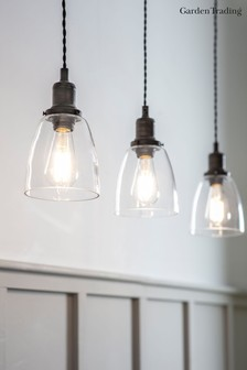 Trio Of Hoxton Domed Pendant Light by Garden Trading