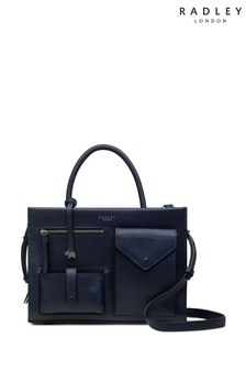 Radley Blue Wilton Way Medium Zip Top Multiway Bag