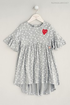Angel & Rocket Grey Heart Jersey Dress