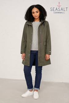 Seasalt Green Porth Mellin Coat