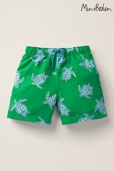 Mini Boden Green Bathers Shorts