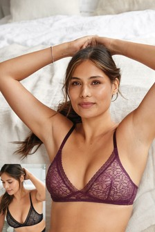 Non Pad Lace Bralette Two Pack