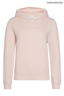 Calvin Klein Jeans Pink Institutional Logo Hoody