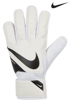 Nike White Goalkeeper Gloves