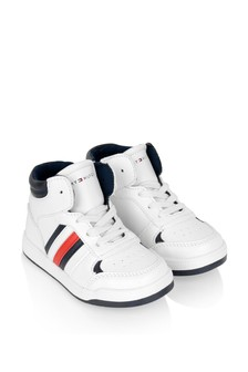 Boys White High Top Trainers