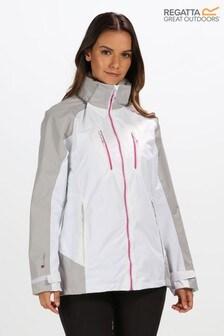Regatta White Womens Calderdale III Waterproof Jacket