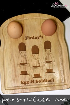 Personalised Egg & Soldiers Board by Signature PG